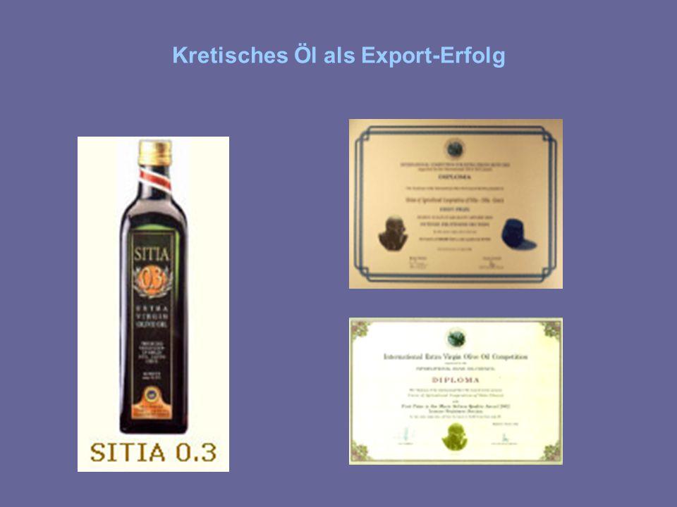 Kretisches Öl als Export-Erfolg