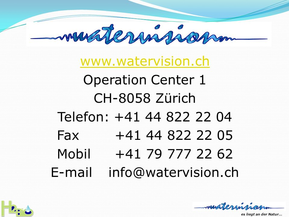 E-mail info@watervision.ch