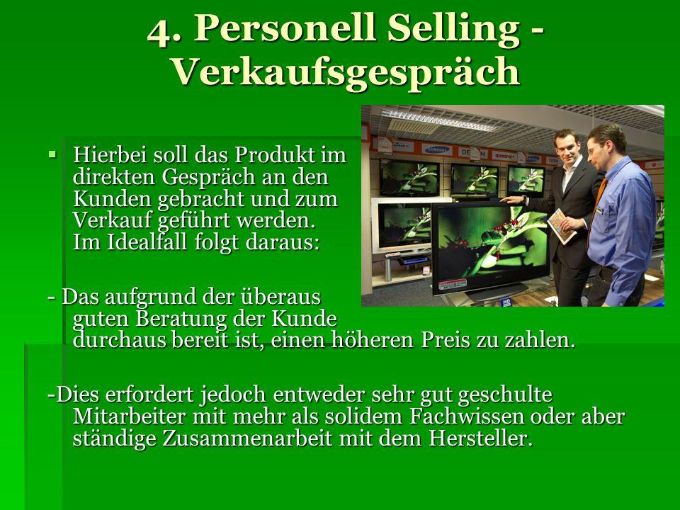4. Personell Selling - Verkaufsgespräch