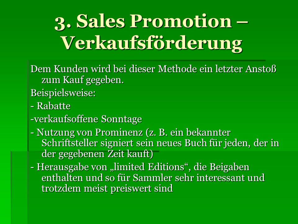 3. Sales Promotion – Verkaufsförderung