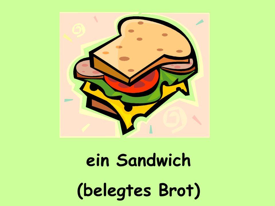 ein Sandwich (belegtes Brot)