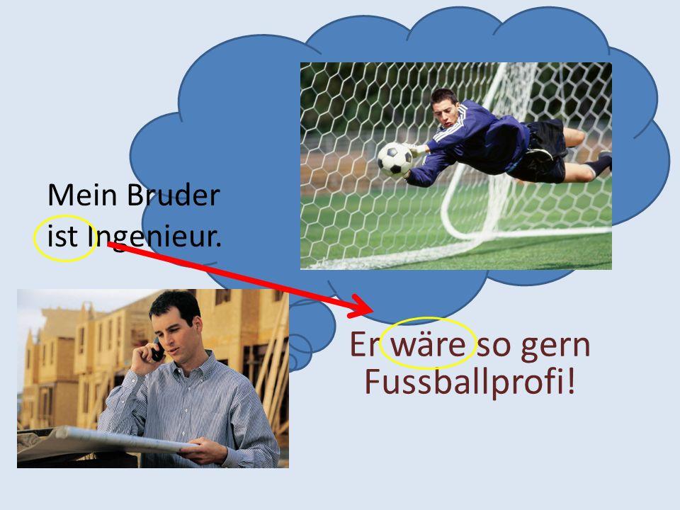Er wäre so gern Fussballprofi!