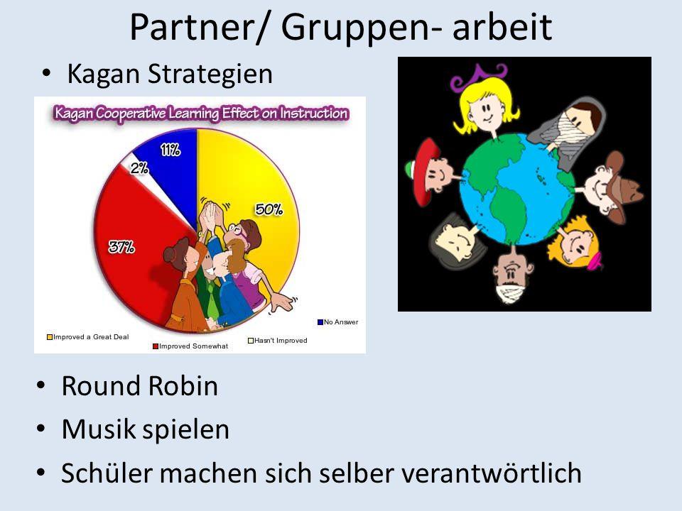 Partner/ Gruppen- arbeit