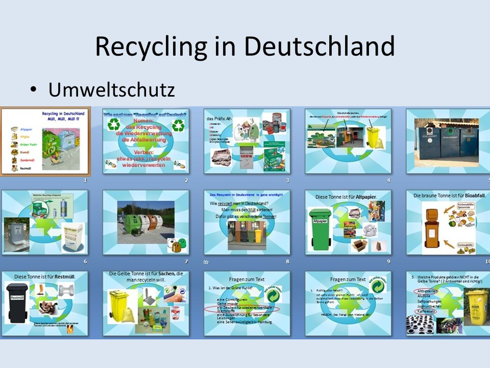 Recycling in Deutschland