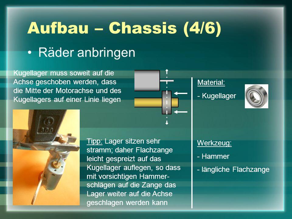 Aufbau – Chassis (4/6) Räder anbringen