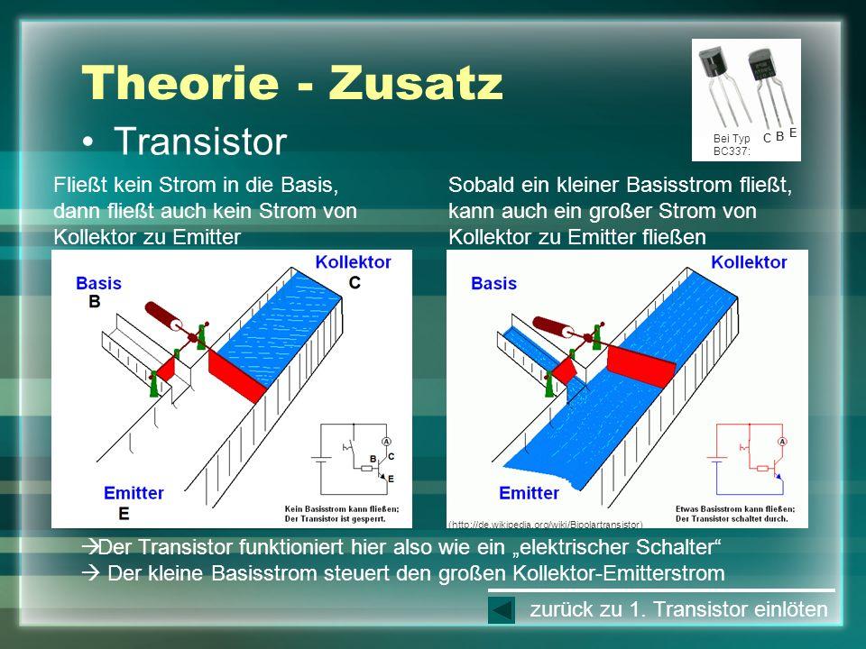 Theorie - Zusatz Transistor
