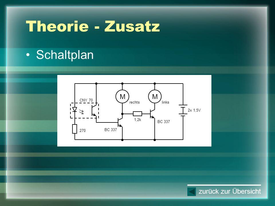 Theorie - Zusatz Schaltplan M M zurück zur Übersicht CNY 70 rechts