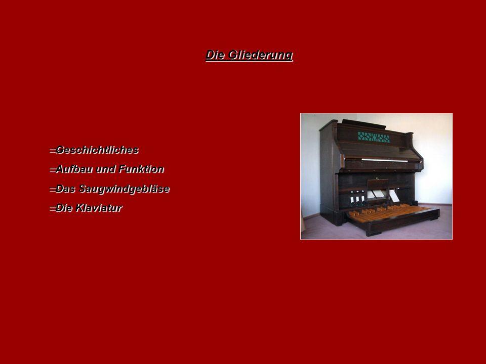 Die Gliederung Geschichtliches Aufbau und Funktion Das Saugwindgebläse