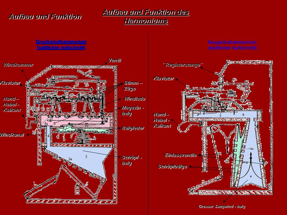 Aufbau und Funktion des Harmoniums
