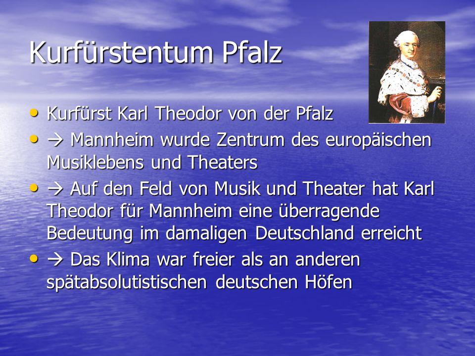 Kurfürstentum Pfalz Kurfürst Karl Theodor von der Pfalz