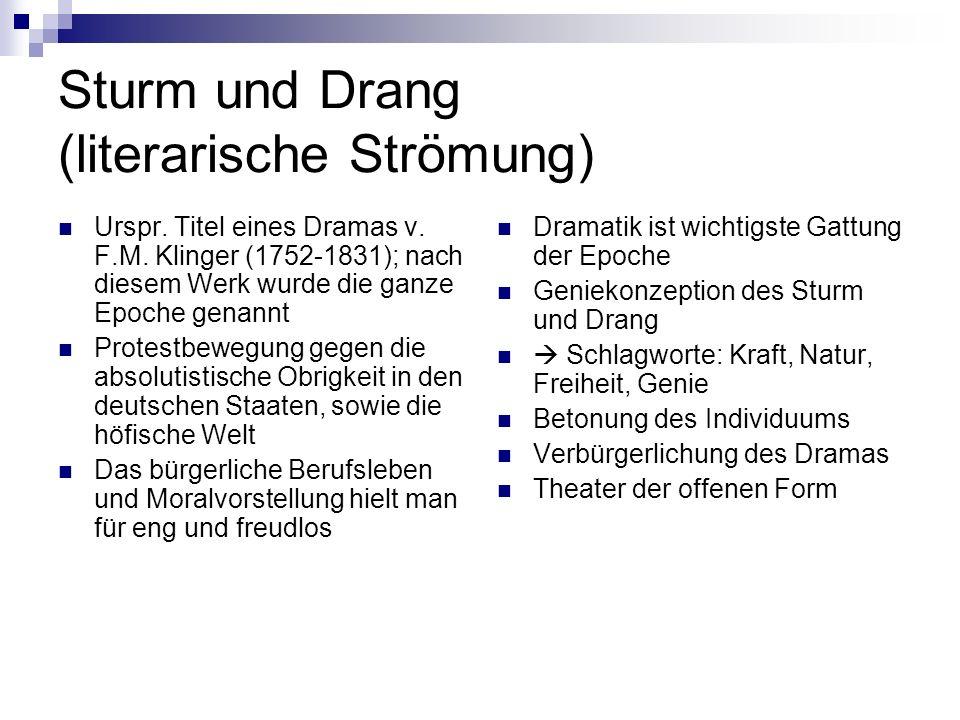 Sturm und Drang (literarische Strömung)