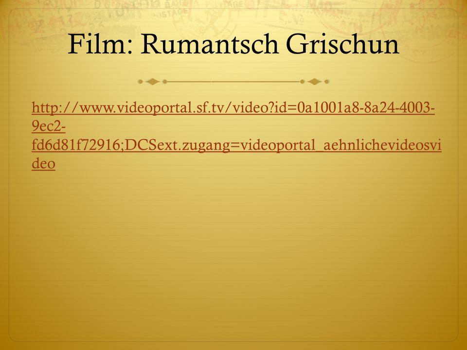 Film: Rumantsch Grischun