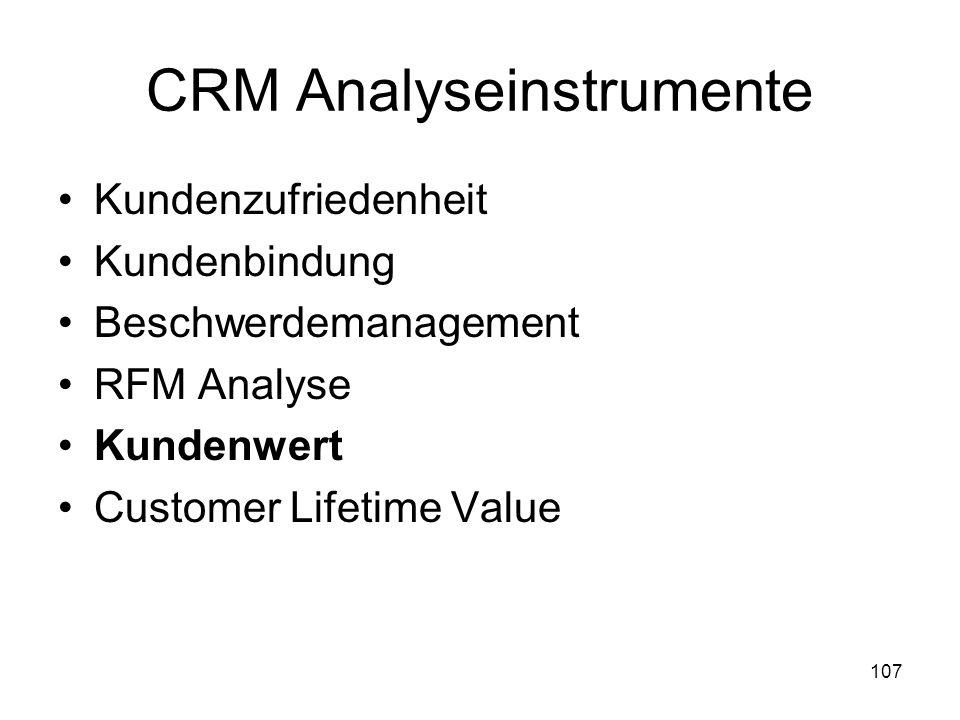 CRM Analyseinstrumente