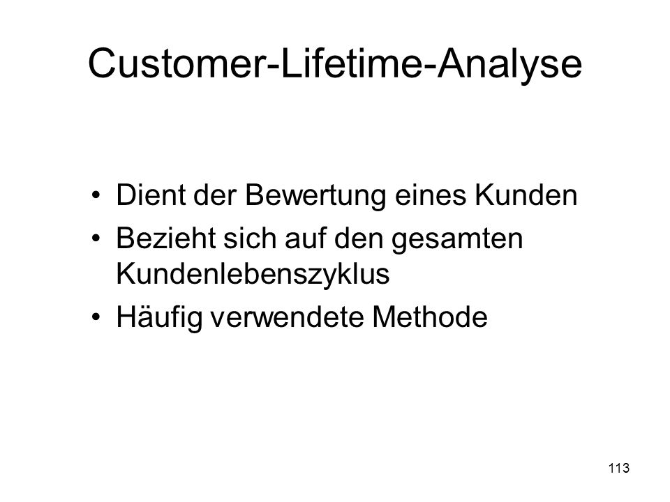 Customer-Lifetime-Analyse