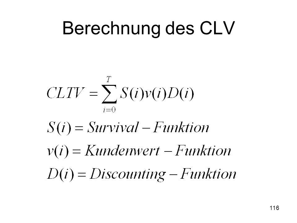 Berechnung des CLV