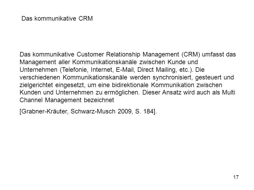 Das kommunikative CRM