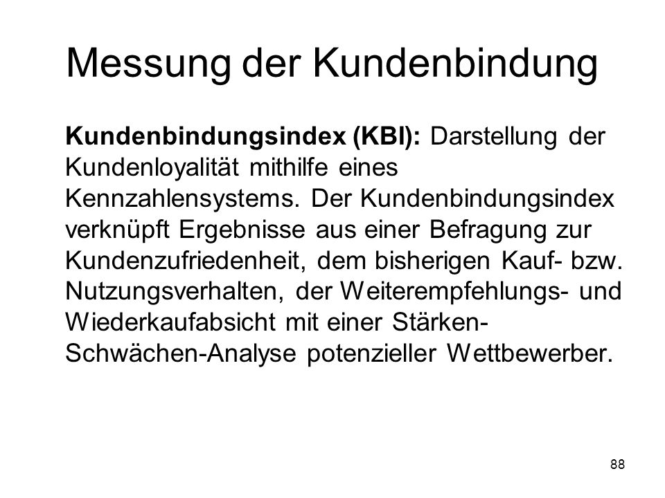 Messung der Kundenbindung
