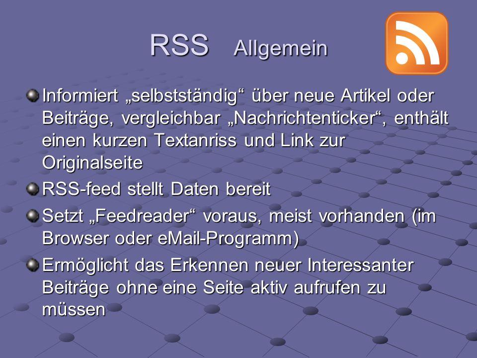 RSS Allgemein