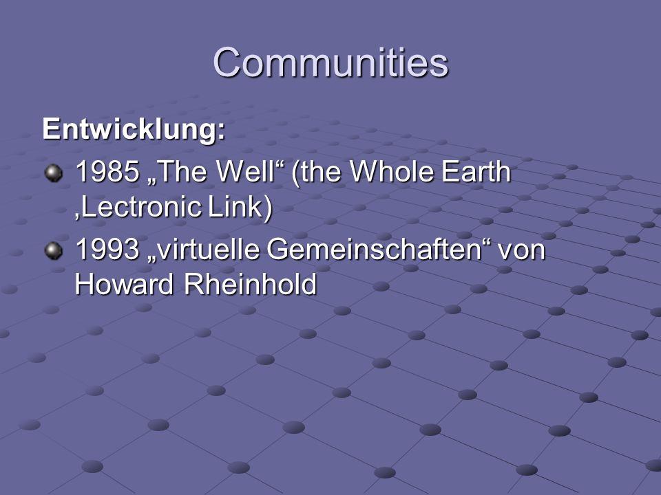 Communities Entwicklung:
