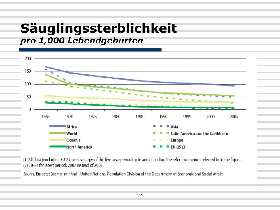 Säuglingssterblichkeit pro 1,000 Lebendgeburten