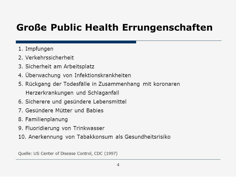 Große Public Health Errungenschaften