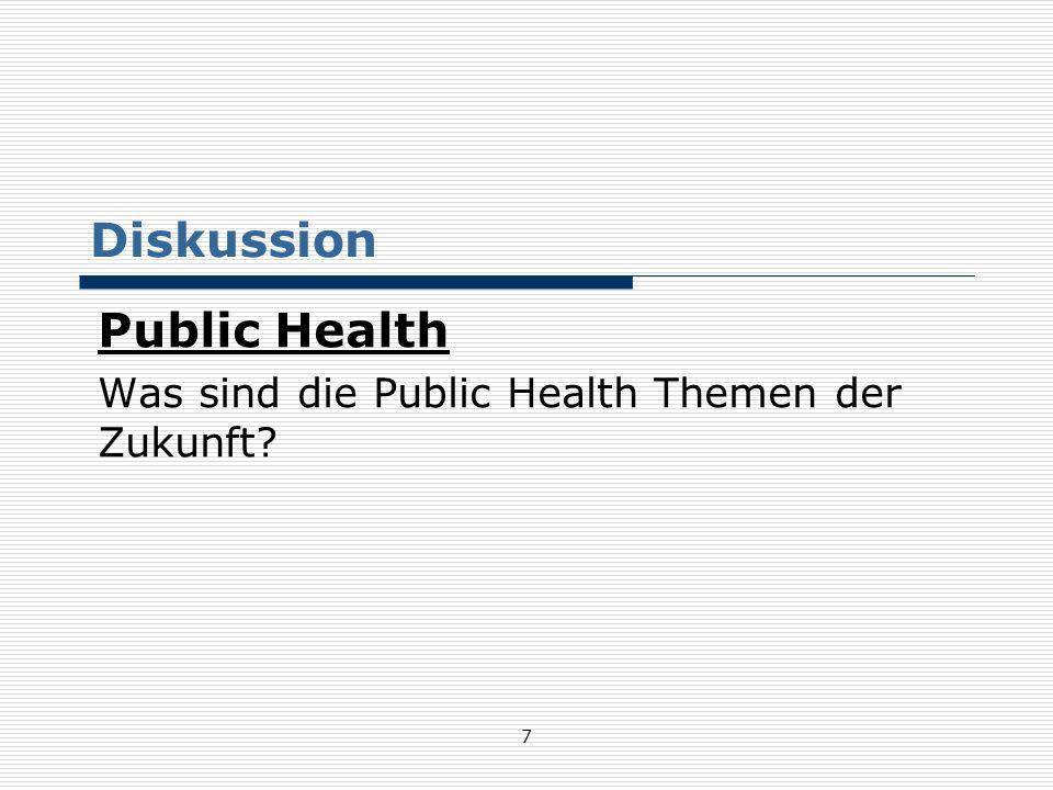 Public Health Was sind die Public Health Themen der Zukunft