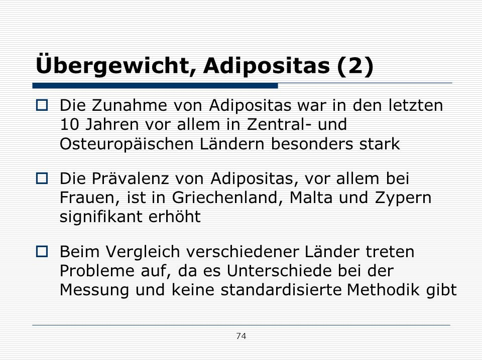 Übergewicht, Adipositas (2)