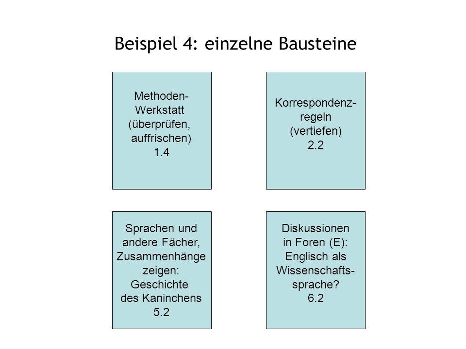 Beispiel 4: einzelne Bausteine