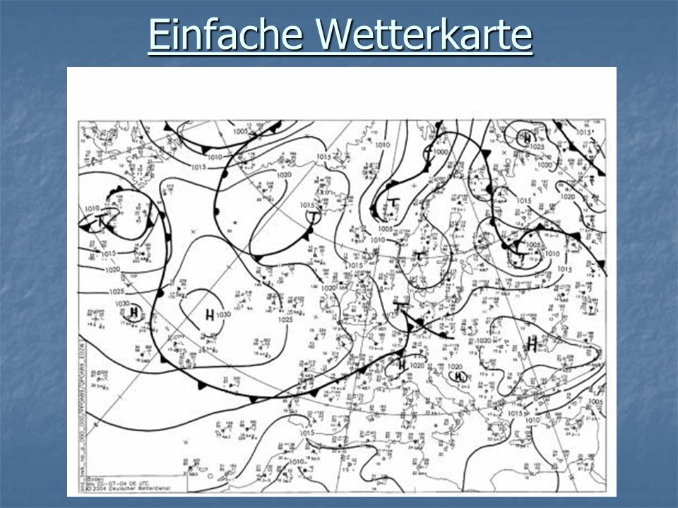 Einfache Wetterkarte