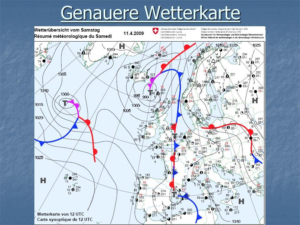 Genauere Wetterkarte