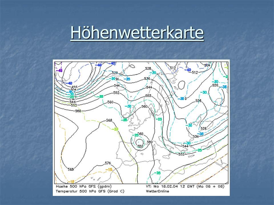 Höhenwetterkarte