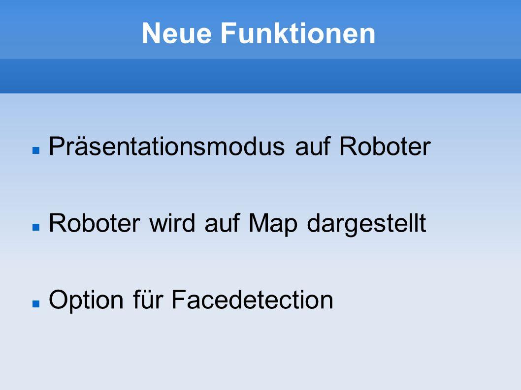 Neue Funktionen Präsentationsmodus auf Roboter