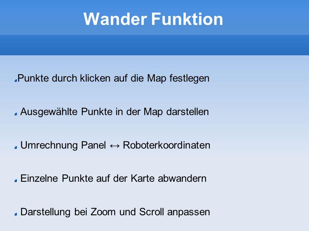 Wander Funktion Punkte durch klicken auf die Map festlegen