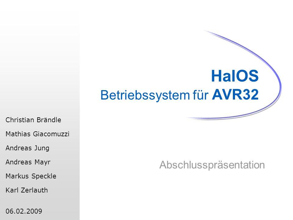 HalOS Betriebssystem für AVR32