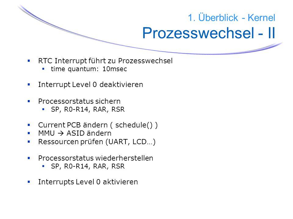 1. Überblick - Kernel Prozesswechsel - II