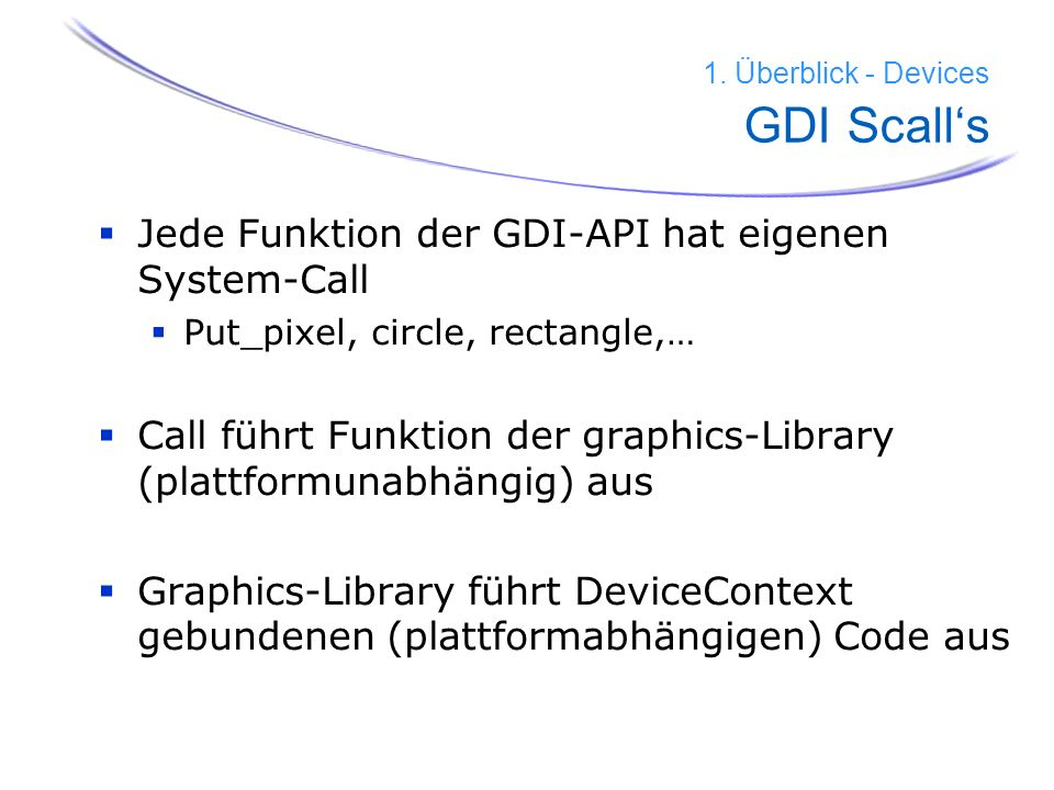1. Überblick - Devices GDI Scall's