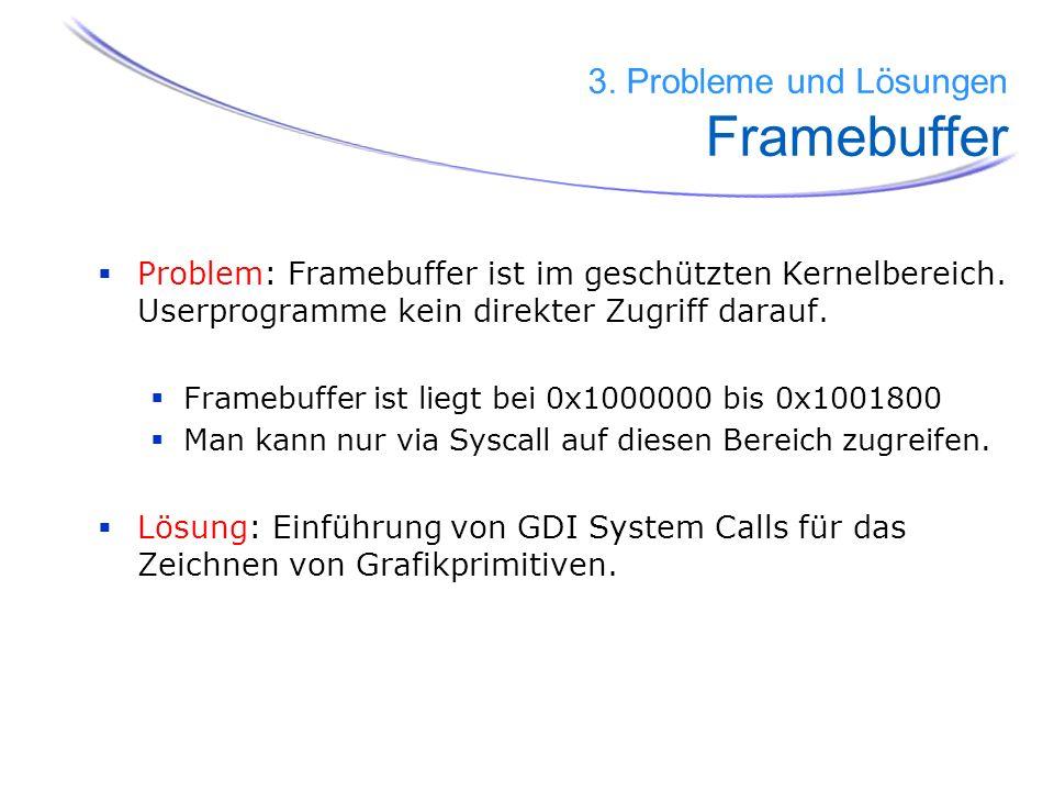 3. Probleme und Lösungen Framebuffer
