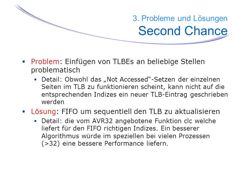 3. Probleme und Lösungen Second Chance