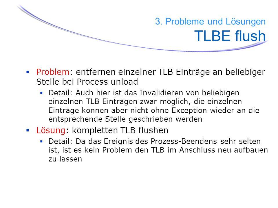 3. Probleme und Lösungen TLBE flush
