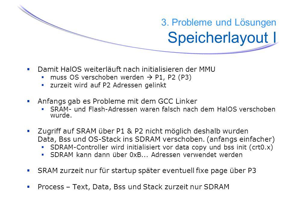 3. Probleme und Lösungen Speicherlayout I
