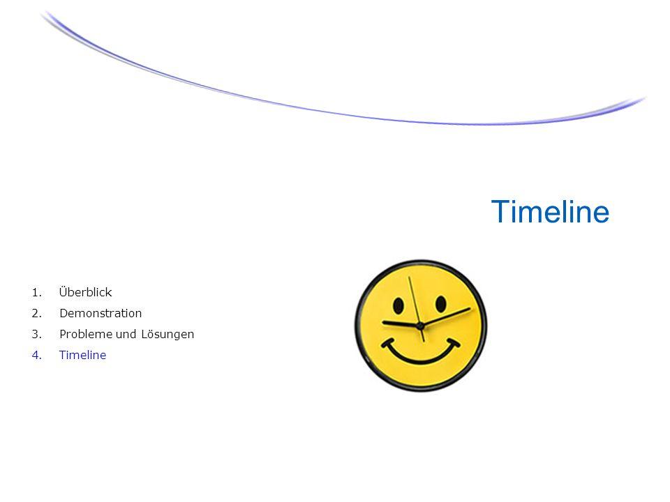 Timeline 1. Überblick 2. Demonstration 3. Probleme und Lösungen