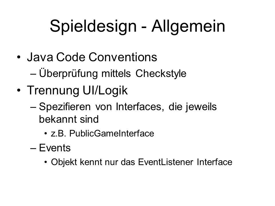 Spieldesign - Allgemein