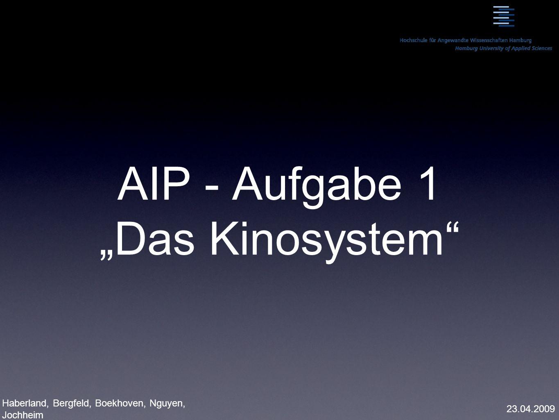 """AIP - Aufgabe 1 """"Das Kinosystem"""