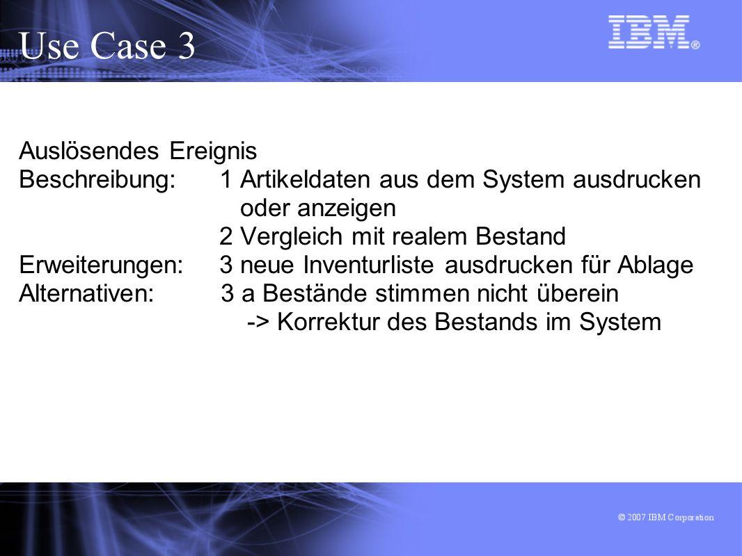 Use Case 3 Auslösendes Ereignis