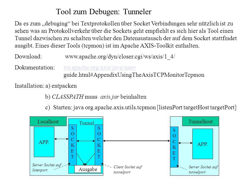 Tool zum Debugen: Tunneler
