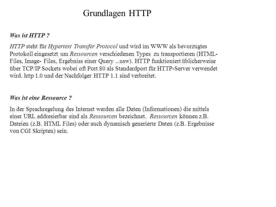 Grundlagen HTTP Was ist HTTP