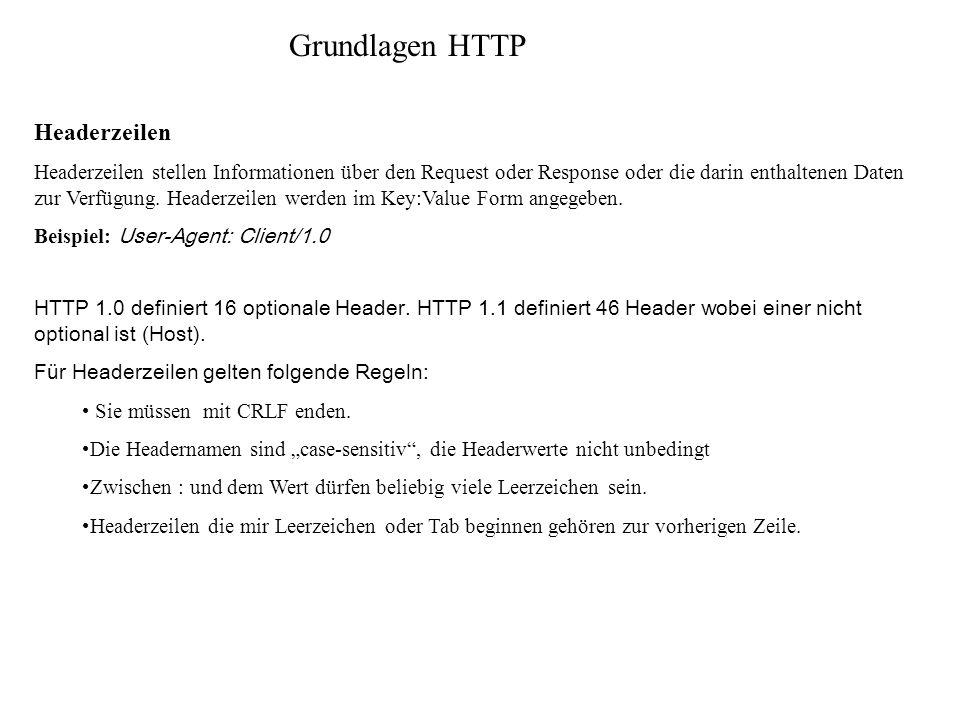 Grundlagen HTTP Headerzeilen