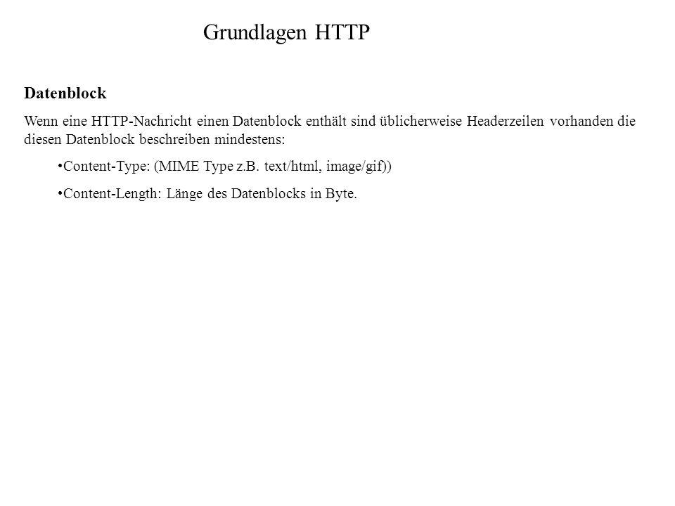 Grundlagen HTTP Datenblock