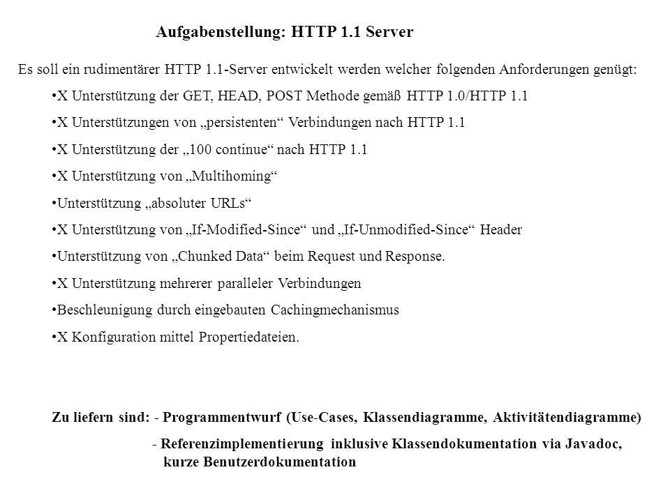 Aufgabenstellung: HTTP 1.1 Server