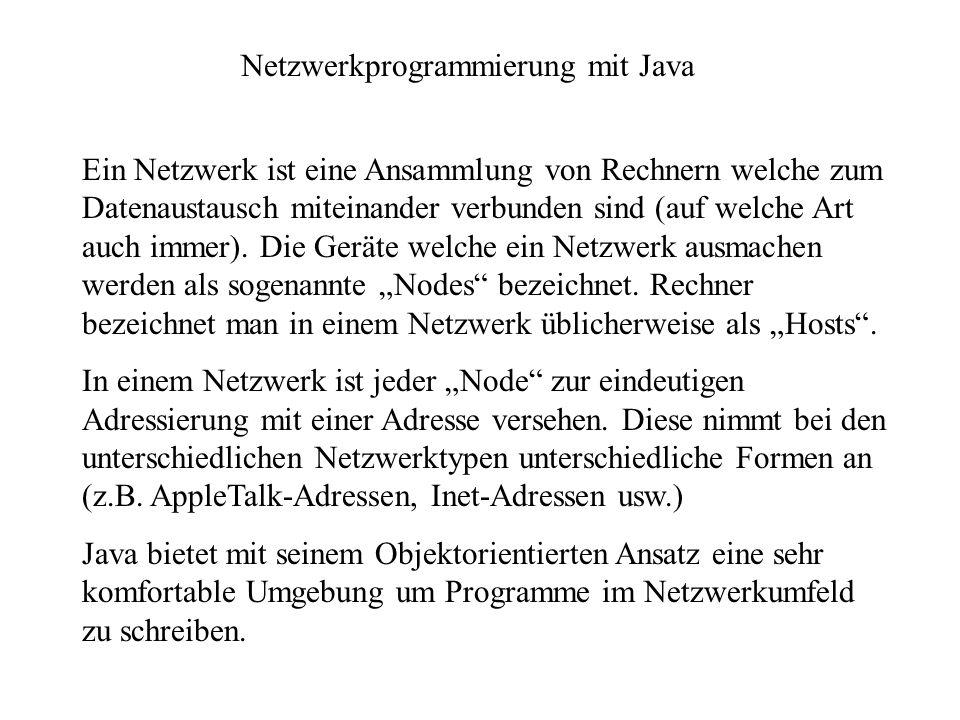 Netzwerkprogrammierung mit Java